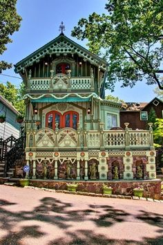 This unusual house is in the Mt.Tabor/Parsippany, New Jersey area of the United States, and recently sold.