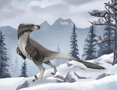 A Very Dromaeosaur Christmas by rhunevild.deviantart.com on @DeviantArt