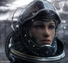Astronaut Girl by Pablo Perdomo in Fresh Showcase of Impressive 3D Characters