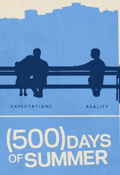 500 Days of Summer (2009) ~ Minimal Movie Poster by Rory Adams #amusementphile