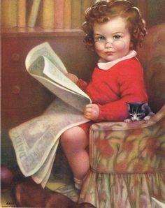 Bossy little girl....... little girls, kitten, worth read, book worth, bossi girl, children read, anime girl reading