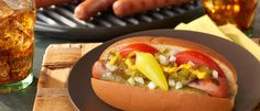 Grilled Chicago-Style Hot Dogs