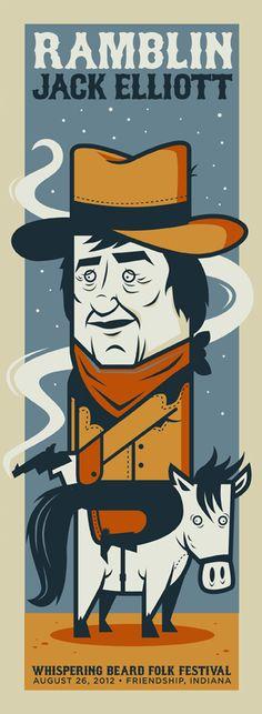 Ramblin Jack Elliot - Rob Warnick  bldgrefuge.com