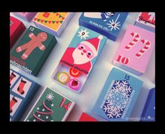 Matchbox Advent Calendar. One to store up for the future (note to self: start collecting matchboxes). Really sweet idea.