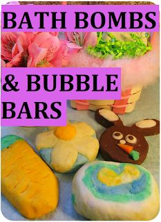 DIY Spring time Bubble Bars & Bath Bombs Recipe + Easter Egg Chocolate Bath Bombs + Bunny Bubble Bars. Homemade Gift Idea for Easter.