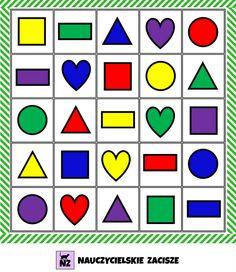 Gry do pobrania - części mowy, kształty, kategorie Cube, Rainbow, Children, Colors, Speech Language Therapy, Therapy, School, Kunst, Rain Bow