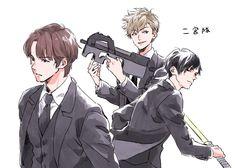 """もちづき on Twitter: """"二宮隊!… """" Attack On Titan, Beautiful Men, Animation, Manga, World, Anime, Twitter, Boys, Cute Guys"""