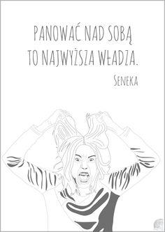 """""""Panować nad sobą to najwyższa władza."""" - Seneka  Plakat o wymiarach 21x29,7 cm + antyrama pleksi połysk.  Więcej plakatów znajdziesz w sklepie: https://motto-studio.pl/pl/c/plakaty/24"""
