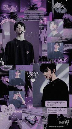 Twitter-Credit: @ButterflyLocksz Wallpapers Kpop, Cute Wallpapers, Aesthetic Collage, Kpop Aesthetic, Kids Collage, Collages, Kids Background, Stray Kids Seungmin, K Wallpaper