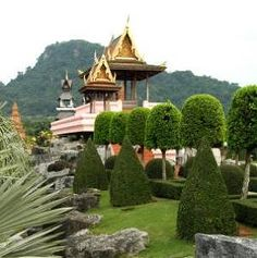 Nong Nooch Gardens should be on the 'must do and visit' list for places to go in Thailand - especially if you are anywhere near Pattaya. Pattaya, Botanical Gardens, Places To Go, Thailand, Tropical, Activities, Mansions, House Styles, Manor Houses