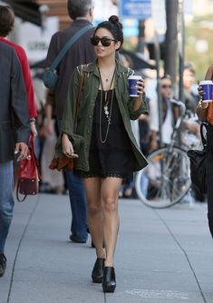 CELEBRITY FRIDAY Vanessa Hudgens I've always been a fan of Vanessa's street style. Love to see her rocking the Army Jacket! I think I am falling in love with this trend even more. - Angelica