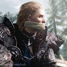 "Ulfric Stormcloak / Jarl Skyrim / Nord / The Elder Scrolls>> HIS VOICE THO UGH IT ""BLOWS ME AWAY"" HAHA GET IT, GET IT?"