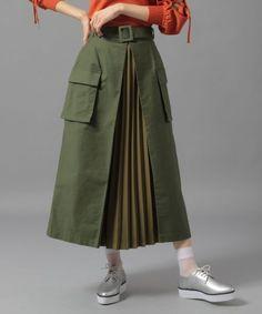 Muslim Fashion, Hijab Fashion, Fashion Dresses, A Line Skirt Outfits, Androgynous Fashion, Mode Hijab, Fashion Sewing, Cute Skirts, Mellow Yellow