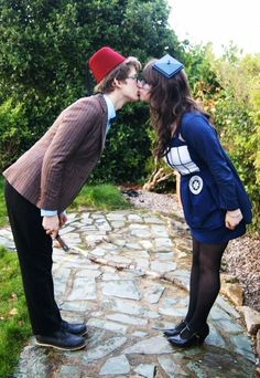 TARDIS and the Doctor! Love it! Urgghh, now I'm jealous. I want a cute Whovian boyfriend to cosplay with. Oh well. Kudos to them, though, they're an awesome couple! Rock on!