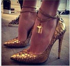 2015 mooco женщин на высоких каблуках змей обувь из натуральной кожи золотого цвета с ремнями 417