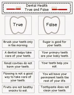 dental health for kids activities - Google Search
