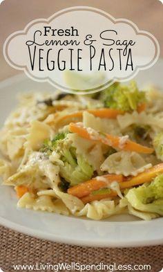 http://www.livingwellspendingless.com/2013/03/22/fresh-lemon-sage-veggie-pasta-recipe