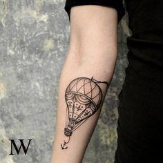 Danke Vikoria! #balloon#black#tattoo#michaelwabro#sevenyfour#linz