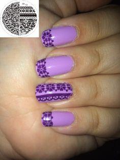 $1.59 Chic Lace Pattern Nail Art Stamp Template Image Plate BORN PRETTY BP02 - BornPrettyStore.com