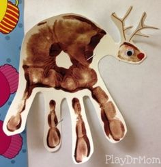 St. James Preschool Handprint Reindeer