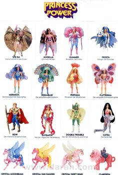 I had the 1st 5 of these and a horse, swift wind. I used these as Barbies daughters lol
