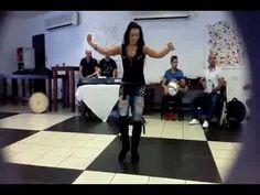 Alla Kushnir belly dance rehersal with Saleh Heby band
