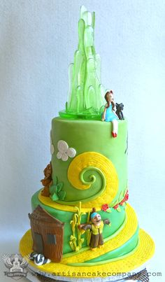 Wizard of Oz birthday cake. I LOVE this.... I love all the details that are in the movie.. It looks so good.