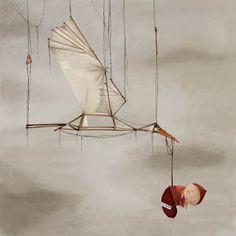 Cigüeña - Ilustración de Sylvia Vivanco.