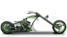 Orange County Choppers - #OCC - Green Web Bike (paul jr build)