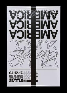 Nicolas Jaar - Seattle poster by David Rudnick