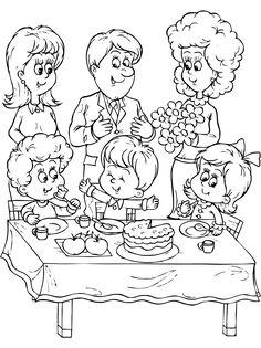 Birthday Boys Coloring Sheets Seventh Birthday Boy Coloring Pages Happy Birthday Printable, Happy Birthday Dad, Boy Birthday Parties, Birthday Boys, Birthday Ideas, Family Coloring Pages, Cool Coloring Pages, Printable Coloring Pages, Boy Coloring