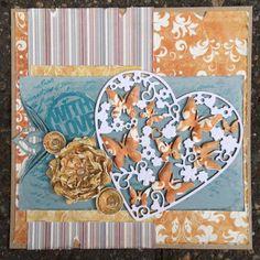 Joy!Crafts Butterfly die and Leane Creatief Multi die flower