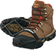 """""""I purchased a pair of these Yaktrax Pro's to trap muskrats through the ice on some of Lake Erie's cattail marshes. The new ice was like glass in places, but with these on my feet, I was able to stay upright and had sufficient traction to pull a sled loaded with gear. I intend to wear these on ice fishing trips soon. They should work out just fine for that, too."""" - customer review"""