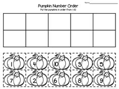 Pumpkin themed number order FREEBIE