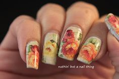 flower nail art water decal design idea #nails #nailart #nailit #nailpromote #beauty #blogger #manicure #nailsoftheday #notd #nailed #nailedit