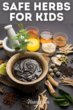 Looking for safe herbs for kids? This list of ayurvedic herbs for kids health includes some of the best herbs for kids, medicinal herbs for kids and healing herbs for kids. Find out how to get your kids to consume these natural herbals and herbal extracts in healthy sandwich spreads #iyurved #ayurvedic #herbals #natural #kidshealth #food #nutrition