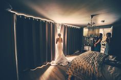 The bride gets ready for her ceremony at Ever After - A Dartmoor Wedding. Photo by GRW Photography