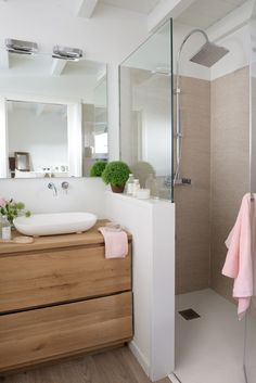 Bathroom with shower cabin - . - cabin - Badezimmer mit Duschkabine – – Bathroom with shower cabin – … – cabin Bathroom Renos, Bathroom Layout, Bathroom Interior Design, Remodel Bathroom, Shower Bathroom, Budget Bathroom, Shower Door, Basement Bathroom, Cozy Bathroom