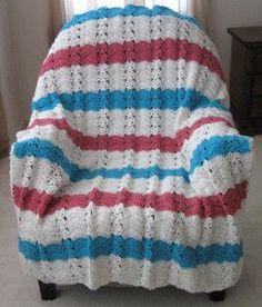 Nautical Ocean Breeze Crochet Throw By Roseanna Beck - Free Crochet Pattern - (allfreecrochetafghanpatterns)
