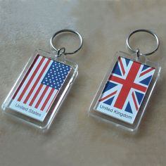 Design the personalized keychain with your own design.