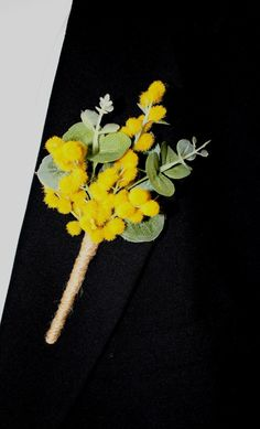Made for an Aussie Wedding, this is a beautiful flowering Wattle Buttonhole/Boutonniere. It is made with flowering wattle & spinning gum buds & leaves and tied with twine. It is ideal for a Groom, Groomsman, Father or Brother of the Bride or Groom. We include everything needed to complete his look as well as instructions on How to wear .  Items sold by UnrealWeddingFlowers have been designed & created by a professional wedding florist using artificial flowers.  To order more than listed or…
