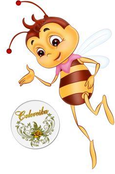 "Photo from album ""Пчёлки"" on Yandex. My Honey, Honey Bees, Bee Clipart, Cartoon Bee, Buzz Bee, Bee Crafts, Bee Happy, My Glass, Printable Art"