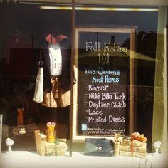 Fall window display - Twirl: August 2012
