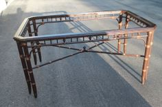 Vintage Faux Bamboo Dining Room Table Chinese by feelinvintage, $795.00