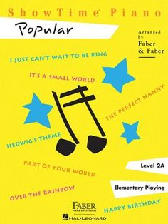 ShowTime Piano - Level 2A: Popular by Nancy Faber. $5.50. Series - Showtime Piano. Publisher: Faber Piano Adventures (May 20, 2010). Publication: May 20, 2010