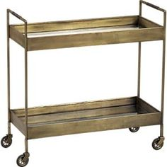 Libations Bar Cart in Accent Tables | Crate and Barrel- perfect!!!