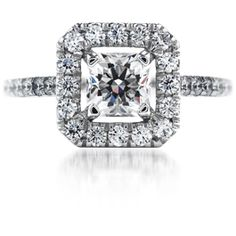 The Graceful Detail of this Diamond Engagement Ring sets a Glorious Stage for the Dream Diamond by Hearts on Fire. Gorgeous!
