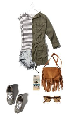 """""""Take it really easy"""" by solespejismo ❤ liked on Polyvore featuring Abercrombie & Fitch, Glamorous, Madewell, American Eagle Outfitters, Ray-Ban and Casetify"""
