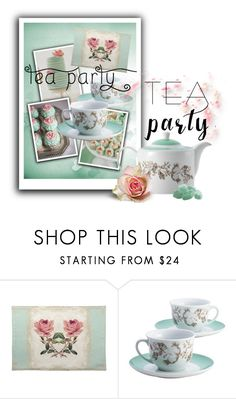 """""""2016 tea party"""" by vaughnroyal ❤ liked on Polyvore featuring interior, interiors, interior design, home, home decor, interior decorating and BonJour"""