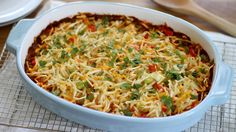 Made with hash browns, eggs and chorizo, this easy enchilada breakfast casserole is bound to become a new family favorite.